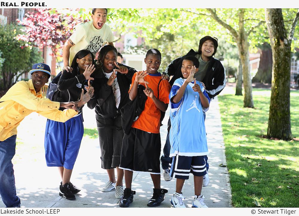 A group of LEEP students enjoying a break.