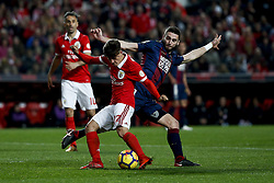 January 20, 2018 - Lisbon, Portugal - Benfica's midfielder Franco Cervi  (L) vies for the ball with Chaves's defender Domingos Duarte (R)    during Primeira Liga 2017/18 match between SL Benfica vs GD Chaves, in Lisbon, on January 20, 2018. (Credit Image: © Carlos Palma/NurPhoto via ZUMA Press)