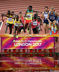 Action during the Men's 3000m Steeplechase during day five of the 2017 IAAF World Championships at the London Stadium.