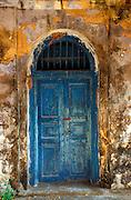 Sri Lanka. Door, Catholic church, Kayts island, Jaffna peninsula. 2003