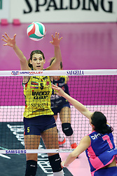 03-11-2018 ITA: Saugella Team Monza - Imoco Volley Conegliano, Monza<br /> Robin de Kruijf #5 of Imoco Volley Conegliano<br /> <br /> <br /> *** Netherlands use only ***