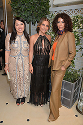 Left to right, MARTA DOSKARINA, ELLA KRASNER and COUNTESS MONTEVERDE at a cocktail party to mark the opening of the House of Dior, the United Kingdom's largest and premier Dior boutique at 160-162 New Bond street, London on 8th June 2016.