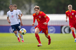 NEWPORT, WALES - Friday, September 3, 2021: Wales' Iwan Roberts during an International Friendly Challenge match between Wales Under-18's and England Under-18's at Spytty Park. (Pic by David Rawcliffe/Propaganda)
