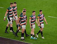 Rugby Union - 2020 / 2021 European Rugby Challenge Cup - Final - Leicester Tigers vs Montpellier - Twickenham<br /> <br /> Leicester Tigers' Ben Youngs and George Ford dejected after their 18-17 defeat.<br /> <br /> COLORSPORT/ASHLEY WESTERN