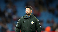 Football - 2017 / 2018 UEFA Champions League - Round of Sixteen, Second Leg: Manchester City (4) vs. FC Basel (0)<br /> <br /> Sergio Aguero of Manchester City at The Etihad.<br /> <br /> COLORSPORT