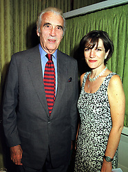 Actor CHRISTOPHER LEE and actress HARRIET WALTER, at a luncheon in London on 7th September 1999.MUX 44