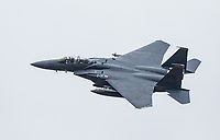 U.S. Air Force F-15C Eagle fighter jet from RAF  Lakenheath crashed into the North Sea off the coast of England ,The Air Forces' 48th Fighter Wing confirmed U.S. Air Force pilot missing,photo take on 3rd june 2020  By Chris Waynne