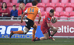 Scarlets Steffan Evans<br /> <br /> Photographer Mike Jones/Replay Images<br /> <br /> Guinness PRO14 Round 22 - Scarlets v Cheetahs - Saturday 5th May 2018 - Parc Y Scarlets - Llanelli<br /> <br /> World Copyright © Replay Images . All rights reserved. info@replayimages.co.uk - http://replayimages.co.uk