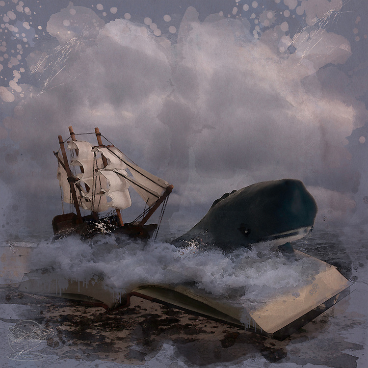 Shown in Photo Place Gallery October 2020<br /> <br /> A fierce storm is brewing as Moby nearly capsizes the ship. The story is coming right out of the pages of the novel.