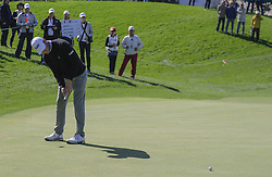October 21, 2017 - Seogwipo, Jeju Island, South Korea - Lucas Glover of USA putt action on the 3th hole during an PGA TOUR CJ CUP NINE BRIDGE DAY 3 at Nine Bridge CC in Jeju Island, South Korea. (Credit Image: © Ryu Seung Il via ZUMA Wire)