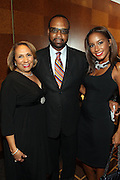 """15 November 2010- New York, NY- Cathy Hughes, Don Coleman, and Kelli Coleman at The National Action Network's 1st Annual Triumph Awards honoring """"Our Best"""" in the Arts, Entertainment, & Sports held at Jazz at Lincoln Center on November 15, 2010 in New York City. Photo Credit: Terrence Jennings"""