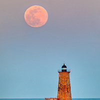 Whaleback Light with super worm moon in southern Maine near the New Hampshire border. This historic New England lighthouse is located near Portsmouth, NH and is also known as Whaleback Light or Whaleback Ledge Lighthouse. A rising full moon always attracts a lot of nature lovers and photographers alike and there was no difference last night. Originally, I was inspired by the tall and old lighthouse structure out in the ocean that tells the story of bracing the Atlantic Ocean for a century and more.   <br /> <br /> New England Lighthouse photography images are available as museum quality photography prints, canvas prints, acrylic prints, wood prints or metal prints. Fine art prints may be framed and matted to the individual liking and decorating needs:<br /> <br /> https://juergen-roth.pixels.com/featured/super-worm-moon-and-whaleback-light-juergen-roth.html<br /> <br /> Good light and happy photo making!<br /> <br /> My best,<br /> <br /> Juergen<br /> Prints: http://www.rothgalleries.com<br /> Photo Blog: http://whereintheworldisjuergen.blogspot.com<br /> Instagram: https://www.instagram.com/rothgalleries<br /> Twitter: https://twitter.com/naturefineart<br /> Facebook: https://www.facebook.com/naturefineart