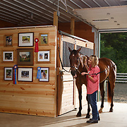 20140811 Low Res Woman in Barn with Horse