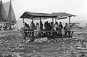 Rock Festival fans on the afternoon of a heavy rain at the Woodstock rock festival at Max Yasgur's 600 acre farm, in the rural town of Bethel, NY, on the weekend of August 16-18, 1969.