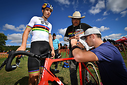 September 22, 2018 - Waterloo, UNITED STATES - Belgian Wout Van Aert pictured during a training session in preparations for tomorrow's first UCI World Cup cyclocross race of the 2018-2019 cyclocross season in Waterloo (WI), USA, Saturday 22 September 2018. BELGA PHOTO DAVID STOCKMAN (Credit Image: © David Stockman/Belga via ZUMA Press)