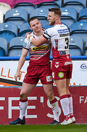 Liam Marshall (2) of Wigan Warriors and Chris Hankinson (3) of Wigan Warriors during the Betfred Super League match between Huddersfield Giants and Wigan Warriors at the John Smiths Stadium, Huddersfield, England on 1 March 2020.