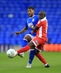 Birmingham City's David Davis (left) and Crawley Town's Kaby Djalo battle for the ball