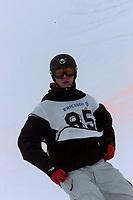 Snowboard, NM snøbrett halfpipe Geilo mars 2000. Peter Molin.
