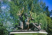 'Den vilande Diana', The Resting Diana, sculpture by artist Jean Goujon, Stockholm, Sweden 1970