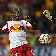 Bradley Wright-Phillips, New York Red Bulls, in action during the New York Red Bulls Vs Houston Dynamo, Major League Soccer regular season match at Red Bull Arena, Harrison, New Jersey. USA. 4th October 2014. Photo Tim Clayton