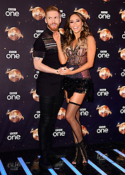 Neil Jones (left) and Katya Jones at the launch of Strictly Come Dancing 2018 held at The Broadcasting House, London.