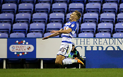 Reading Sam Smith celebrates scoring his side's third goal of the game in extra time