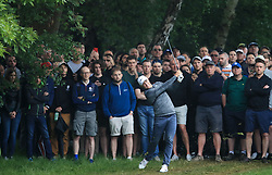 Sweden's Alex Noren plays out of the rough on the 4th during day two of the 2018 BMW PGA Championship at Wentworth Golf Club, Surrey.
