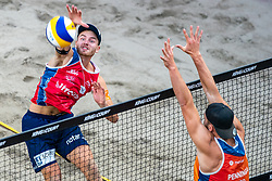 Christian Sørum NOO in action during the third day of the beach volleyball event King of the Court at Jaarbeursplein on September 11, 2020 in Utrecht.