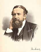 John Lubbock, first Baron Avebury (1834-1913) English banker, naturalist and archaeologist. From 'The Modern Portrait Gallery', Cassell, Petter and Galpin, London c.1880. Tinted lithograph