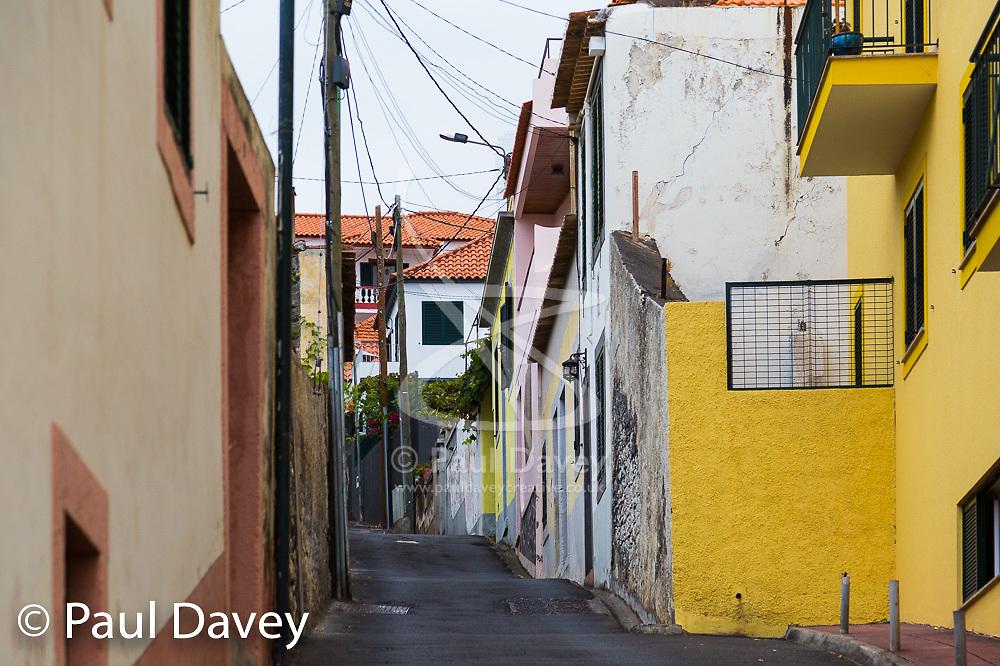 Steep streets define the urban landscape of Funchal, Madeira. MADEIRA, September 25 2018. © Paul Davey