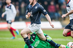 Falkirk's keeper Michael McGovern saves from Dundee's Craig Beattie.<br /> Dundee 0 v 1 Falkirk, Scottish Championship game played today at Dundee's Dens Park.<br /> © Michael Schofield.