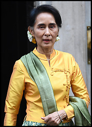 September 13, 2016 - London, United Kingdom - Image ¬©Licensed to i-Images Picture Agency. 13/09/2016. London, United Kingdom. Theresa May and Aung San Suu Kyi.   Aung San Suu Kyi leaving Downing Street after meeting The Prime Minister Theresa May  Picture by Andrew Parsons / i-Images (Credit Image: © Andrew Parsons/i-Images via ZUMA Wire)