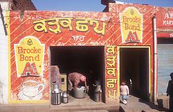 Brooke Bond Tea Advert on a shop front in Gobindigarh; Punjab; India,