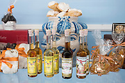 Traditional  Marsala wine and other souvenirs on sale in a typical gift shop in the city of Taormina, East Sicily, Italy