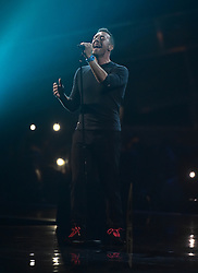 Chris Martin during the George Michael tribute on stage at the BRIT Awards 2017, held at The O2 Arena, in London.<br /><br />Picture date Tuesday February 22, 2017. Picture credit should read Matt Crossick/ EMPICS Entertainment. Editorial Use Only - No Merchandise.