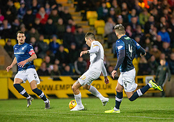 Livingston Lyndon Dykes scoring their second goal. Livingston 3 v 1 Raith Rovers, William Hill Scottish Cup played 18/1/2020 at the Livingston home ground, Tony Macaroni Arena.
