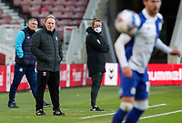 Middlesbrough manager Neil Warnock watches on during the first half<br /> <br /> Photographer Alex Dodd/CameraSport<br /> <br /> The EFL Sky Bet Championship - Middlesbrough v Blackburn Rovers - Sunday 24th January 2021 - Riverside Stadium - Middlesbrough <br /> <br /> World Copyright © 2021 CameraSport. All rights reserved. 43 Linden Ave. Countesthorpe. Leicester. England. LE8 5PG - Tel: +44 (0) 116 277 4147 - admin@camerasport.com - www.camerasport.com