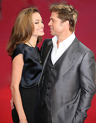 US actor Brad Pitt and Angelina Jolie arrive to Deauville International center for the screening of 'The assassination of Jesse James' during the 33rd American Film Festival in Deauville, Normandy, France, on September 3, 2007. Photo by Nebinger- Guignebourg/ABACAPRESS.COM