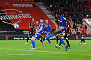 Sammy Ameobi (11) of Nottingham Forset shot at goal goes over the bar during the EFL Sky Bet Championship match between Bournemouth and Nottingham Forest at the Vitality Stadium, Bournemouth, England on 24 November 2020.