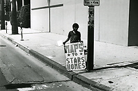 1979 Seller of map to the stars' homes.
