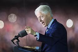 November 8, 2016 - Philadelphia, USA - 161107 Bill Clinton hÅ'ller ett tal under en kampanj fÅ¡r Hillary Clinton som USA:s president den 7 november 2016 i Philadelphia  (Credit Image: © Joel Marklund/Bildbyran via ZUMA Wire)