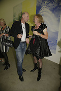 RICHARD STRANGE AND GRAYSON PERRY , Johnnie Shand Kydd:  book launch party celebrate the publication of Crash.White Cube. Hoxton sq. London. 18 September 2006. ONE TIME USE ONLY - DO NOT ARCHIVE  © Copyright Photograph by Dafydd Jones 66 Stockwell Park Rd. London SW9 0DA Tel 020 7733 0108 www.dafjones.com