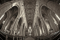 Uppsala Cathedral. Semester at Sea, Summer 2014 Voyage. Image taken with a Fuji XT1 camera and Bower 8 mm f/2.8 fisheye lens (ISO 800, 8 mm, f/2.8, 1/60 sec). Raw image processed with Capture One Pro, Focus Magic, and Photoshop CC.