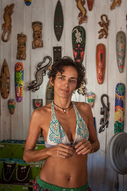 Italian shop owner Valentina Libereco, Samara, Costa Rica, Central America