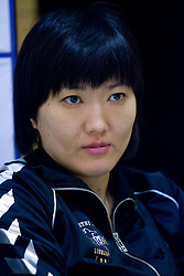 Ljudmila Bodnjeva at press conference of women handball club RK Krim Mercator,  on October 20, 2009, in M Hotel, Ljubljana, Slovenia.   (Photo by Vid Ponikvar / Sportida)
