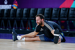 Sasa Zagorac of Slovenia prior to the basketball match between National Teams of Slovenia and Spain at Day 15 in Semifinal of the FIBA EuroBasket 2017 at Sinan Erdem Dome in Istanbul, Turkey on September 14, 2017. Photo by Vid Ponikvar / Sportida