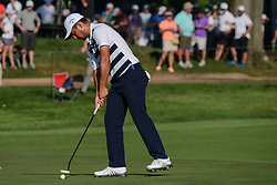 August 9, 2018 - Town And Country, Missouri, U.S - XANDER SCHAUFFELE from San Diego California, USA  taps in for par on hole number 14 during round one of the 100th PGA Championship on Thursday, August 8, 2018, held at Bellerive Country Club in Town and Country, MO (Photo credit Richard Ulreich / ZUMA Press) (Credit Image: © Richard Ulreich via ZUMA Wire)