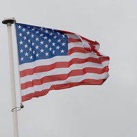 01 June 2007: American flag is seen in Philippe Chatrier court during the French Tennis Open third round match won by David Nalbandian 7-6, 5-7, 6-4, 7-6, at Roland Garros, in Paris, France.