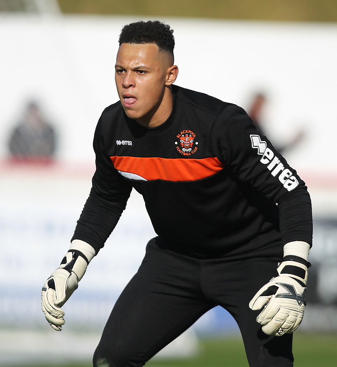 Blackpool's Miles Boney warms up<br /> <br /> Photographer Alex Dodd/CameraSport<br /> <br /> The EFL Sky Bet League Two - Accrington Stanley v Blackpool - Saturday 15th October 2016 - Wham Stadium - Accrington<br /> <br /> World Copyright © 2016 CameraSport. All rights reserved. 43 Linden Ave. Countesthorpe. Leicester. England. LE8 5PG - Tel: +44 (0) 116 277 4147 - admin@camerasport.com - www.camerasport.com