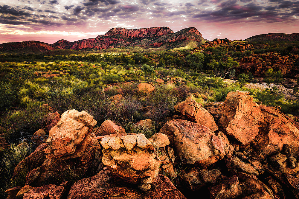 Sunset at Ormiston Pound, West Macdonnell Ranges, Northern Territory